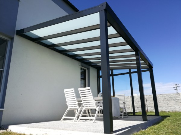 Pergola antracit RAL 7016 300 x 250 cm provedení DELUXE